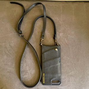 Bandolier Sarah Black Leather iPhone case + strap